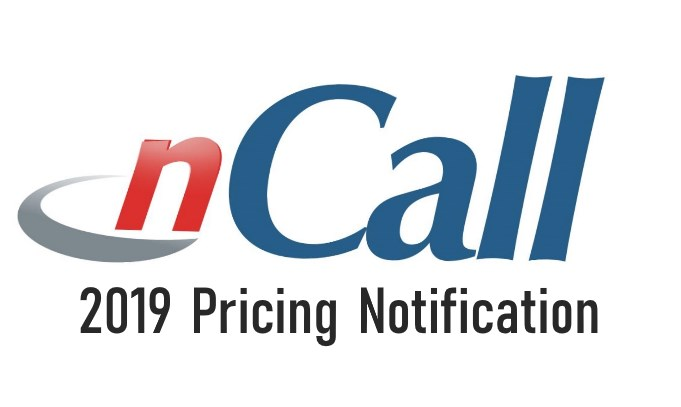 2019 nCall Pricing Notification