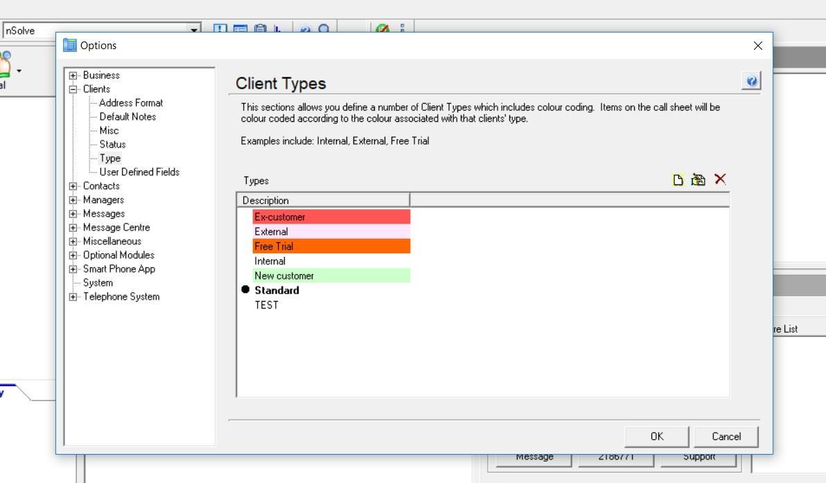 Client types