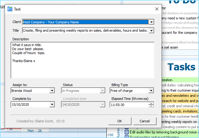 Tasks in the software let the call handling operators keep focused
