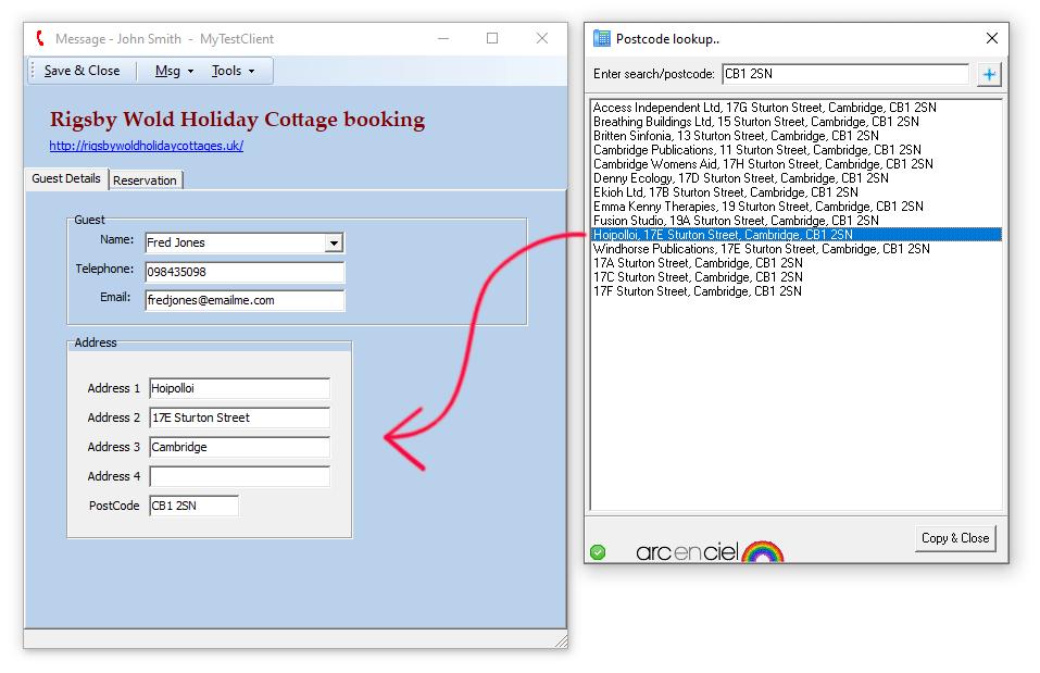 nSolve Postcode Server zip search