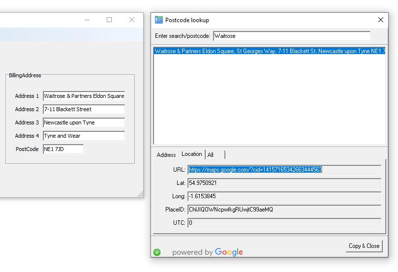 nSolve Postcode Server nSolve